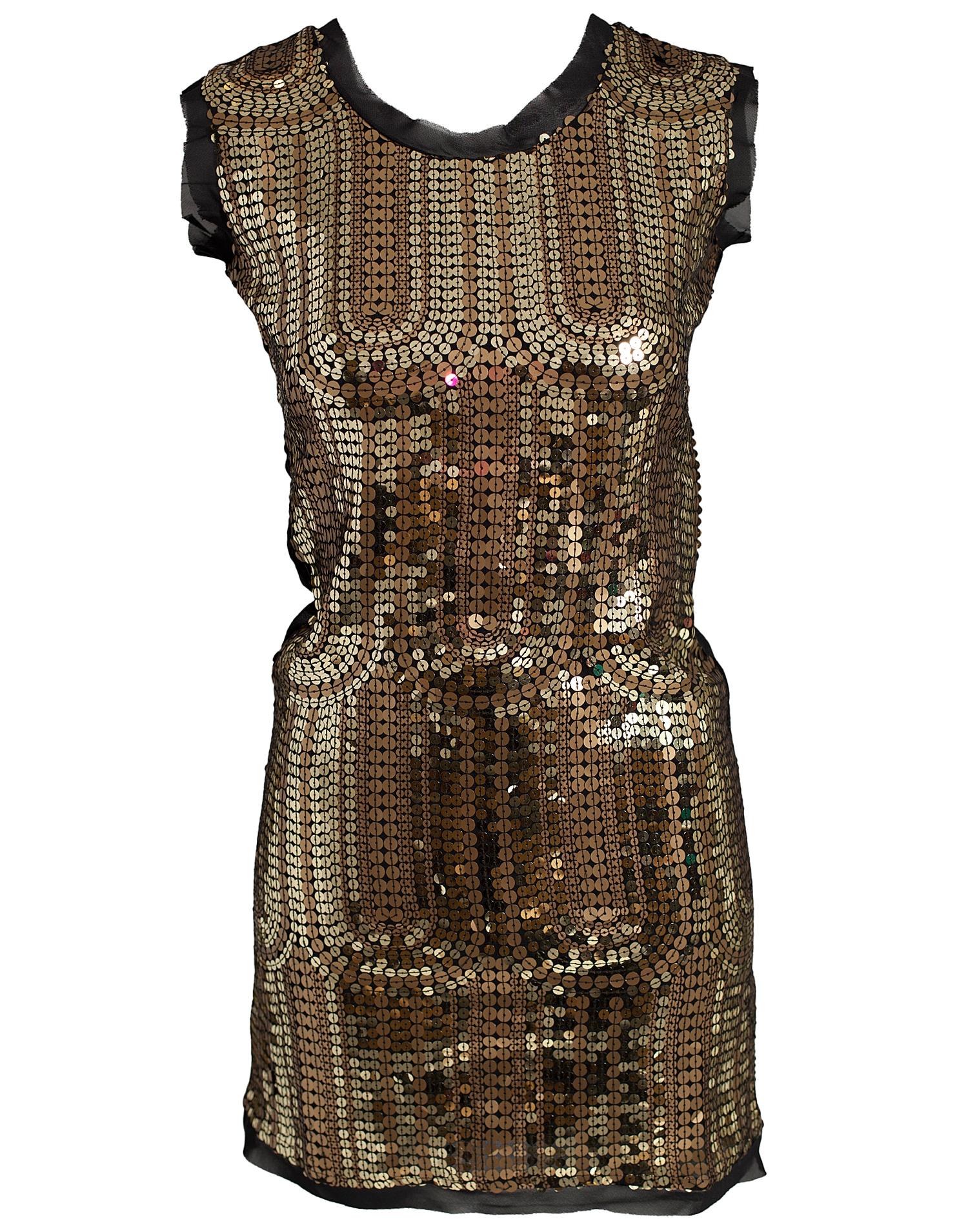Sequin Mania Zanneli Gold Sequin Dress