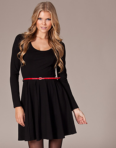PARTY DRESSES - THE PAPER SUN / LONG SLEEVE SKATER DRESS - NELLY.COM