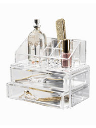 Cosmetic Organizer Box With 2 Drawers
