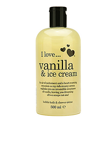 KROPPSVÅRD - I LOVE... / VANILLA & ICE CREAM BATH & SHOWER CRÉME - NELLY.COM