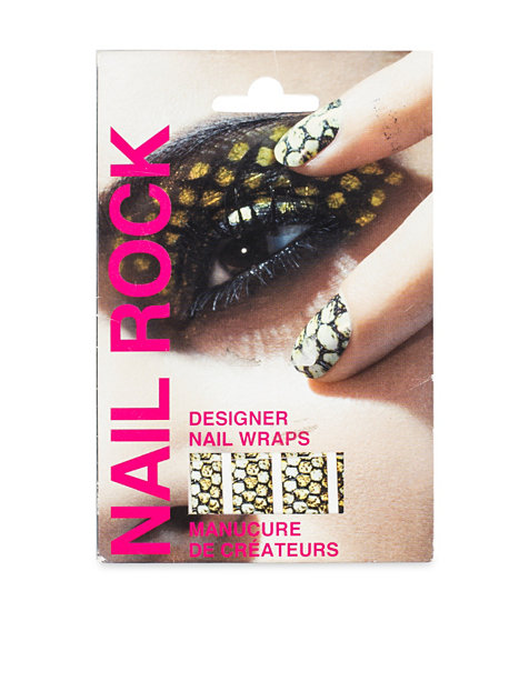 Designer Nail Wrap Rock Cosmetics Python Nail Design Beauty Women Uk