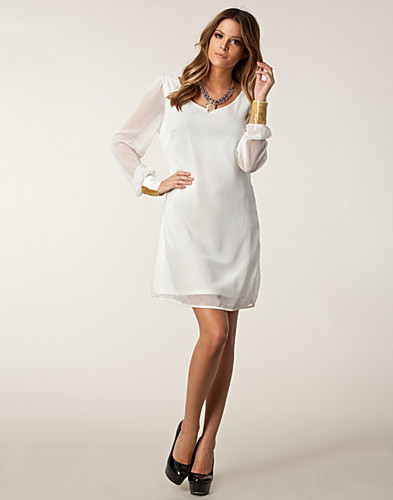 FESTKLÄNNINGAR - VILA / AZTEK SOLID DRESS - NELLY.COM