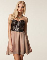 Reverse - Sequin Bandeau Skater Dress