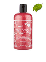 I Love... Cranberry Celebration Bubble Bath & Shower Gel