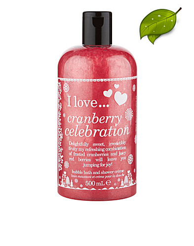 KROPPSVÅRD - I LOVE... / CRANBERRY CELEBRATION BUBBLE BATH & SHOWER GEL - NELLY.COM