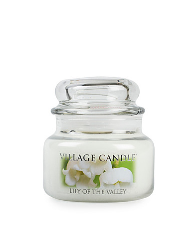 BEAUTY @ HOME - VILLAGE CANDLE / LILY OF THE VALLEY GLAS JAR - NELLY.COM