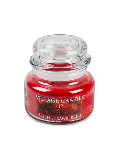 BEAUTY @ HOME - VILLAGE CANDLE / FRESH STRAWBERRY GLAS JAR - NELLY.COM