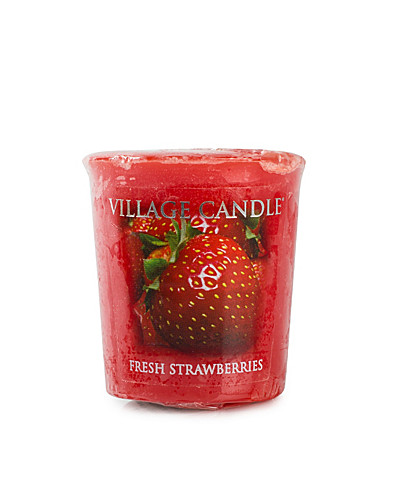 BEAUTY @ HOME - VILLAGE CANDLE / FRESH STRAWBERRY VOTIVE - NELLY.COM
