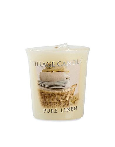 BEAUTY @ HOME - VILLAGE CANDLE / PURE LINEN VOTIVE - NELLY.COM