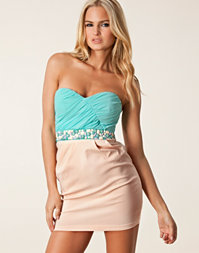 Elise Ryan - Bandeau Waist Trim Dress