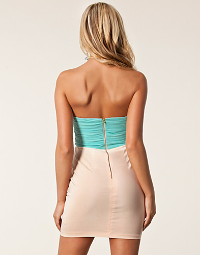 PARTY DRESSES - ELISE RYAN / BANDEAU WAIST TRIM DRESS - NELLY.COM