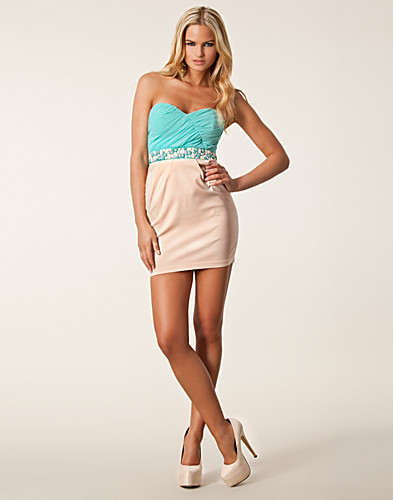 JUHLAMEKOT - ELISE RYAN / BANDEAU WAIST TRIM DRESS - NELLY.COM