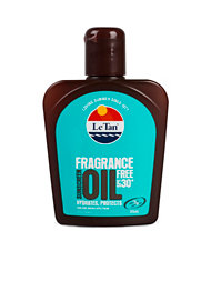 Le Tan Fragrance Free Oil SPF 30+