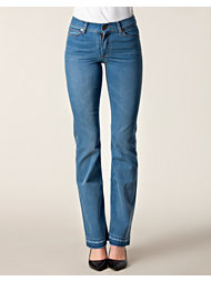 Örjan Andersson Wide Slim Raw Hem Blue Jeans