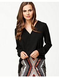 River Island Collar Wrap Blouse