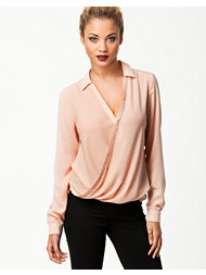River Island Olivia Collar Wrap Blouse