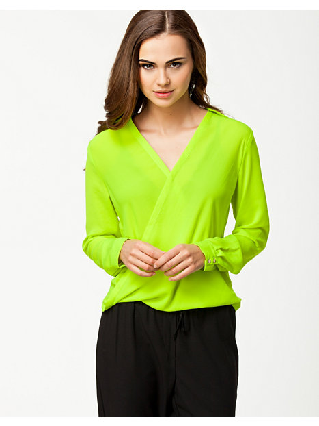 River Island Wrap Blouse Lime 97
