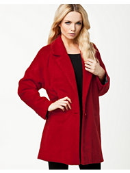 River Island Swagger Red Drawn Wool