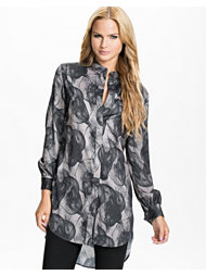 J Lindeberg Ruth Marbled Silk Shirt