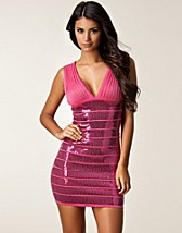 ALL SEQUIN BANDAGE DRESS