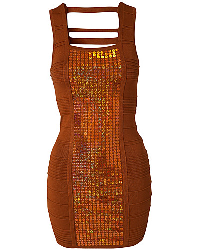 FESTKJOLER - WOW COUTURE / SEQUIN CENTER ACCENT DRESS - NELLY.COM