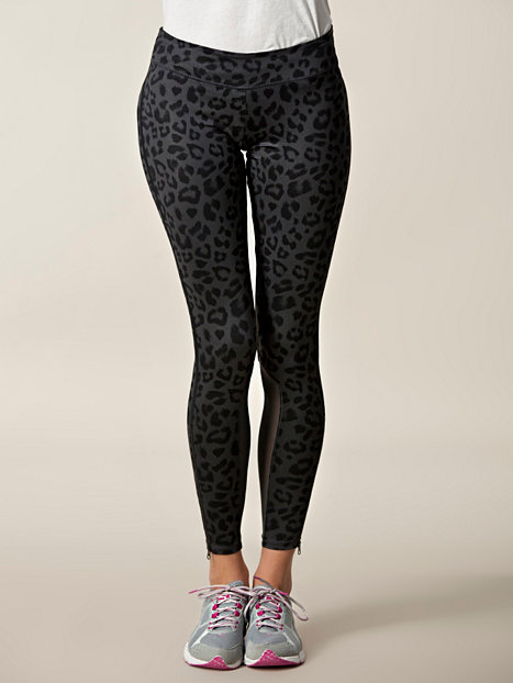 cheetha printed bowery leggings nike black tights. Black Bedroom Furniture Sets. Home Design Ideas