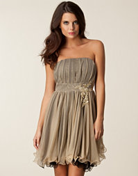 Aura Boutique - Mesh Bandeau Trim Dress