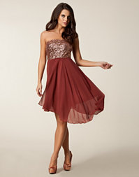 Aura Boutique - Bandeau Sequin Assy Dress