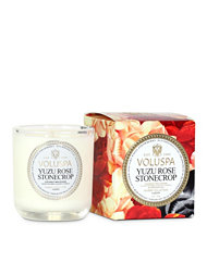 Voluspa Yuzu Rose Stonecrop Classic Maison Boxed Votive Candle