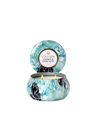 Voluspa Linden & Dark Moss 2-Wick Maison Metallo Candle