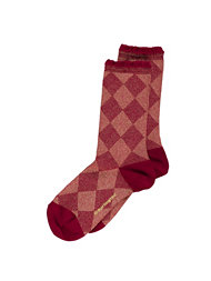 Burlington Lurex Argyle Sock