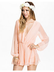 Reverse Sheer Sleeve Playsuit