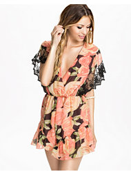 Reverse Peach Capped Sleeve Playsuit