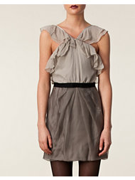 Vera Wang Lavender Chiffon Short Dress