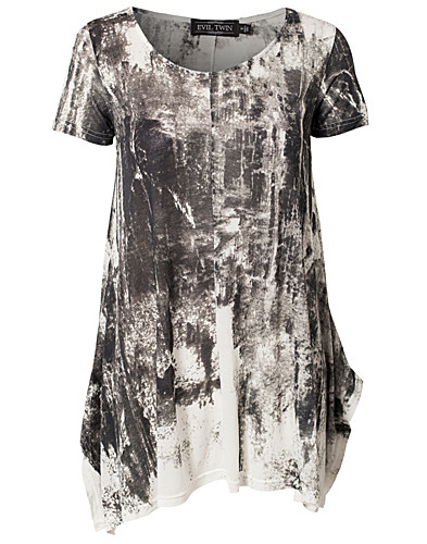 TOPPAR - EVIL TWIN / NIGHT TERRORS PRINTED TUNIC - NELLY.COM