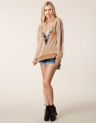 JUMPERS & CARDIGANS - WILDFOX / CHERIE SKULL SWEATER - NELLY.COM