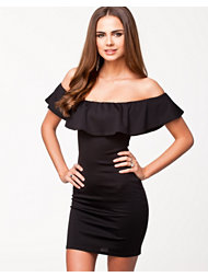 Oneness Off Shoulder Frill Dress