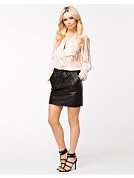 Just Female Mesh Leather Skirt