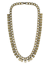 Just Female Track Necklace