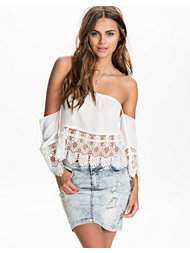 Kiss The Sky Lace Detail Off Shoulder Top