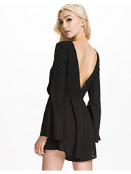 Kiss The Sky Fluted Sleeve Playsuit