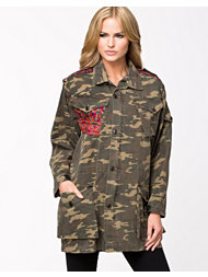 Native Rose Boyfriend Tapestry Parka