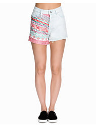 Native Rose Tapestry Front High Waisted Shorts