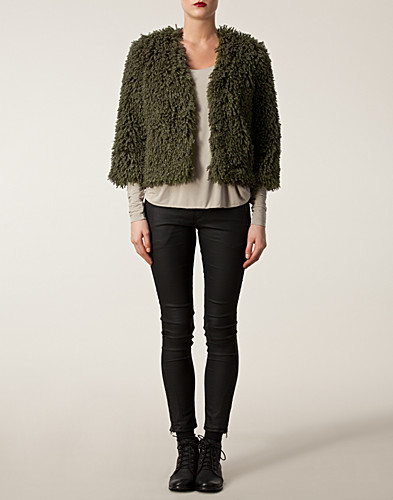 JACKOR - ANNA SUI / FAUX FUR JACKET - NELLY.COM