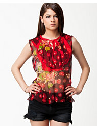 Anna Sui Daisy Bouquet Print Top