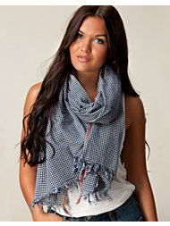 Jean Shop Mini Check Cotton Scarf