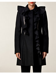 Moschino Cheap & Chic Long Ruffle Coat