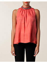 Moschino Cheap & Chic Draped Chiffon Top