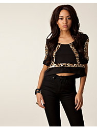 Mad Love Leo Rave Sequin Trim Top