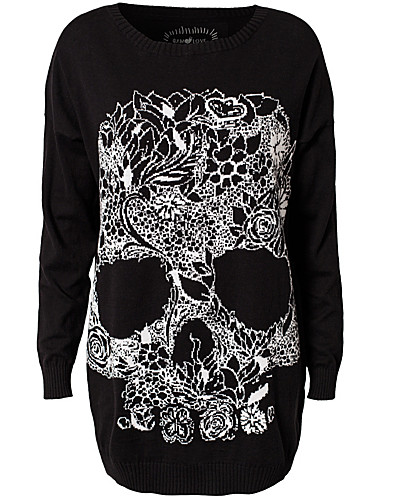 JUMPERS & CARDIGANS - MAD LOVE / WILD ONE SKULL JUMPER - NELLY.COM